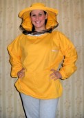 Pčelarska bluza - keper u boji (100% pamuk), šešir se može odvojiti od bluze radi lakšeg održavanja i mogućnosti pranja donjeg dela